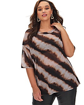 Multi Tie Dye Mesh T Shirt
