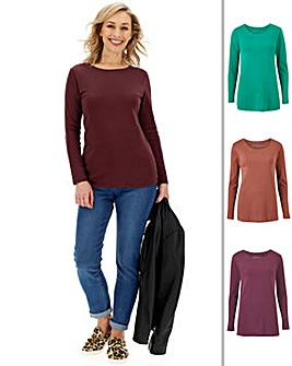 Pack of 3 Long Sleeve Top