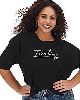 Trending Boxy Crop T Shirt