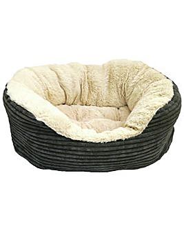 Rosewood Grey Jumbo Cord Bed - Medium