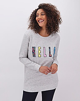 Hello Placement Sweatshirt