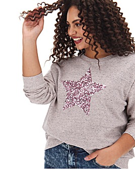 Grey Star Placement Sweatshirt