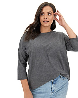 Charcoal Marl Side Pocket Tunic