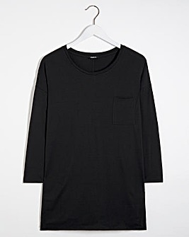 Long Sleeve Drop Shoulder Pocket Tunic
