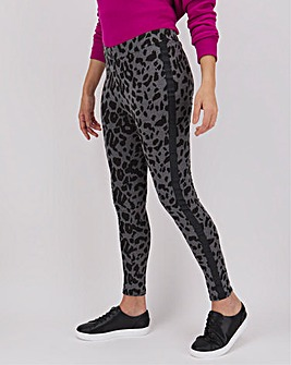 Animal Print Side Stripe Leggings