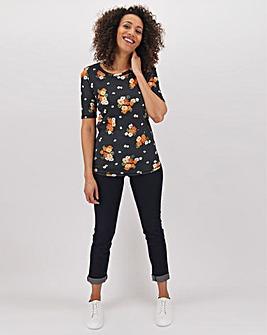 Rust Floral Value Cotton T Shirt
