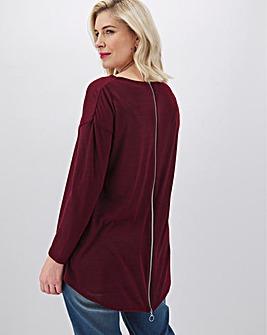 Berry Zip Back Cut & Sew Tunic
