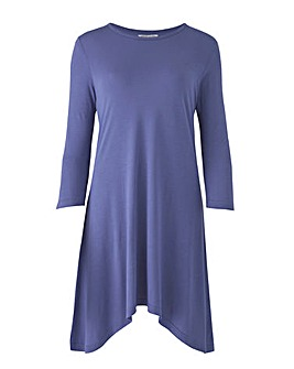 Denim Blue Hanky Hem Tunic