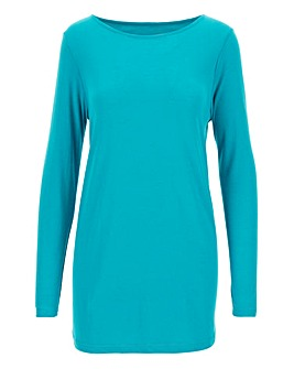 Teal Dipped Hem Tunic