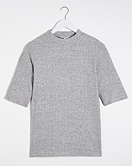 Light Grey Super Soft High Neck Tee