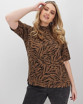 Tiger Super Soft High Neck Top
