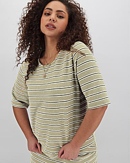 Rib Boxy T-Shirt