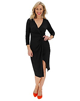 Black Twist Knot Midi Dress