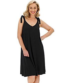 Black Tie Shoulder Cami Dress
