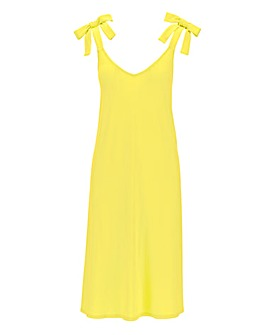 Yellow Tie Shoulder Cami Dress