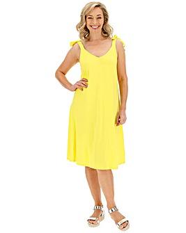 Yellow Tie Shoulder Cami Dress
