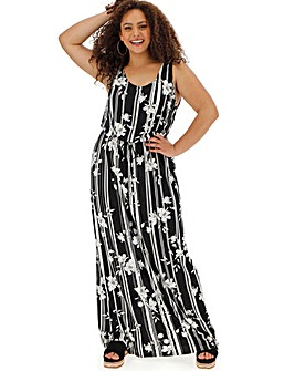 Stripe Vest Maxi Dress