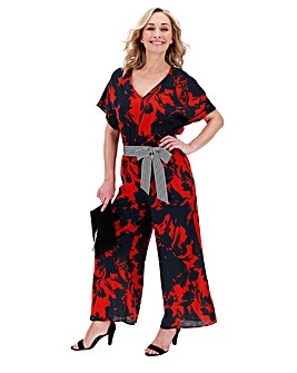 Floral Printed Jumpsuit with Belt
