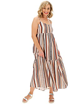 Stripe Trapeze Cami Maxi Dress