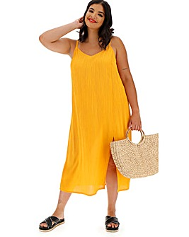 Saffron Crinkle Cami Dress