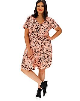 Dalmatian Spot Print Tea Dress
