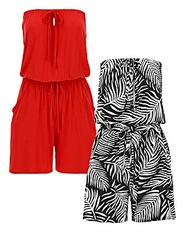 Pack of Two Playsuits