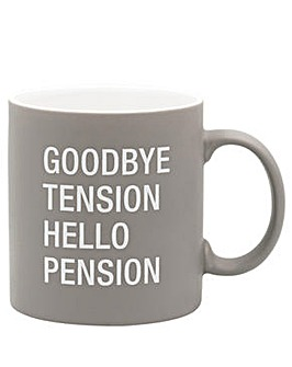 About Face Goodbye Tension mug