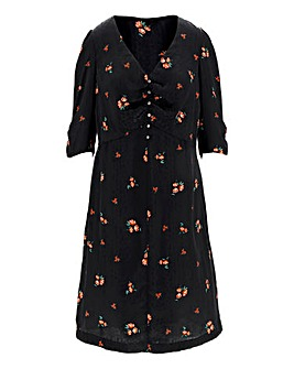 Jacquard Print Tea Dress