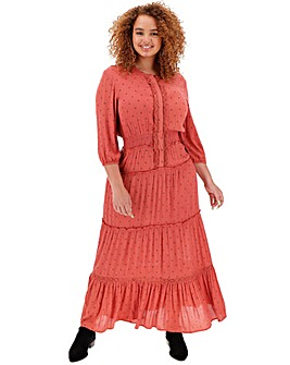 Paprika Tiered Boho Maxi Dress