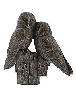 Border Fine Arts Studio Bronze Owls