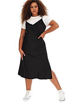 Lace Trim Slip Cami Dress