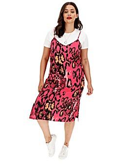 Snake Print Cami Dress