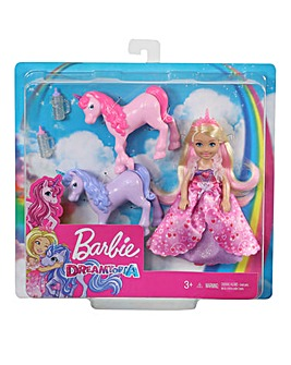 Barbie Chelsea Princess and Baby Unicorn