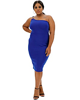 Cobalt One Shoulder Bodycon Dress