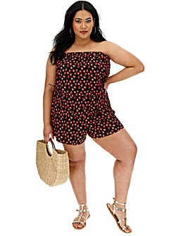Strawberry Print Bandeau Playsuit