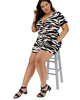 Zebra Wrap Playsuit