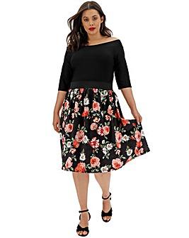 Black Floral Prom Dress