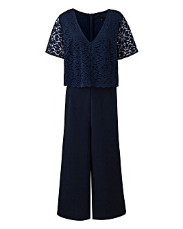 Navy Lace Layer Jumpsuit