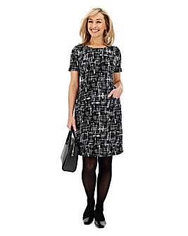 Ponte Pocket Shift Dress