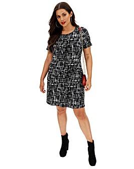 Ponte Pocket Shift Dress