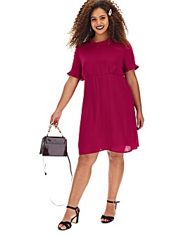 Berry Satin Tea Dress
