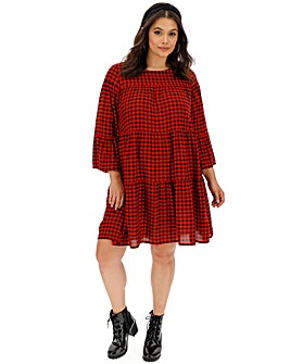 Red Check Smock Dress