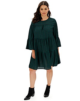 Green Check Smock Dress