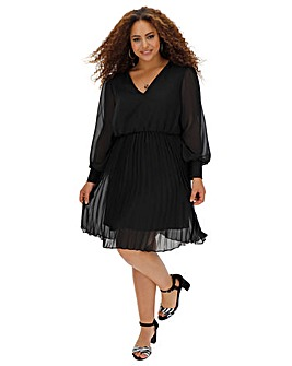 Black Pleated Skirt Dress