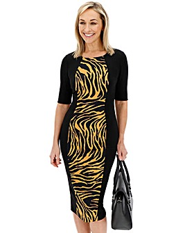 Animal Print Illusion Dress