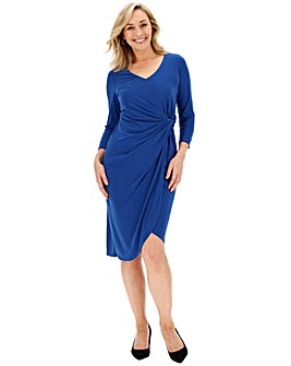 Cobalt Twist Knot Dress