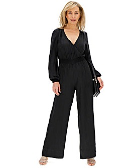 Animal Print Jacquard Jumpsuit