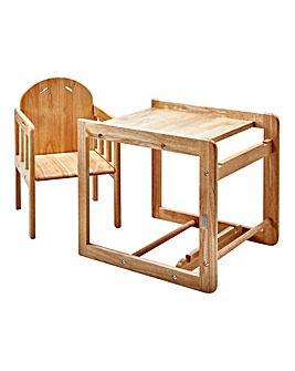 East Coast Wooden Highchair Combination - Natural