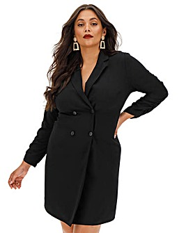 Black Tuexedo Blazer Dress