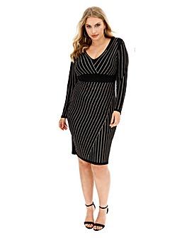 Bodycon Stripe Hotfix Dress